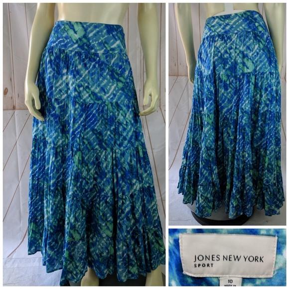 0988c9ebb83ae Jones New York Dresses & Skirts - Jones NY Sport Tie Dye Skirt 10 Cotton  Tiered